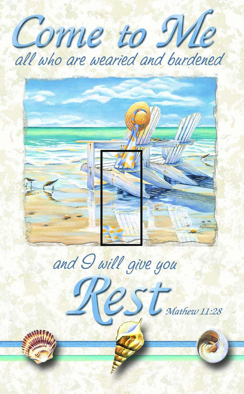 Matthew 11:28 Single Toggle SwitchStix Peel and Stick Switch Plate Cover Décor