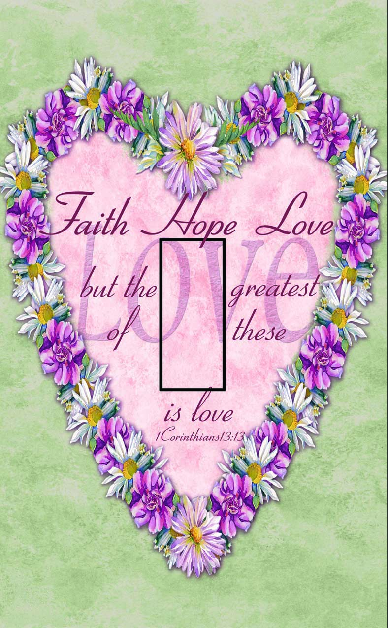 1 Corinthians 13:13 Single Toggle SwitchStix Peel and Stick Switch Plate Cover Décor