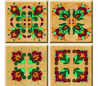 IdeaStix Renaissance TileStix - Original Premium 4-Piece Peel and Stick Tile Decor