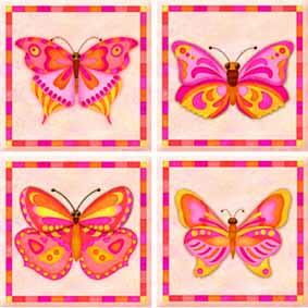 IdeaStix Serendipity TileStix - Original Premium 4-Piece Peel and Stick Tile Decor