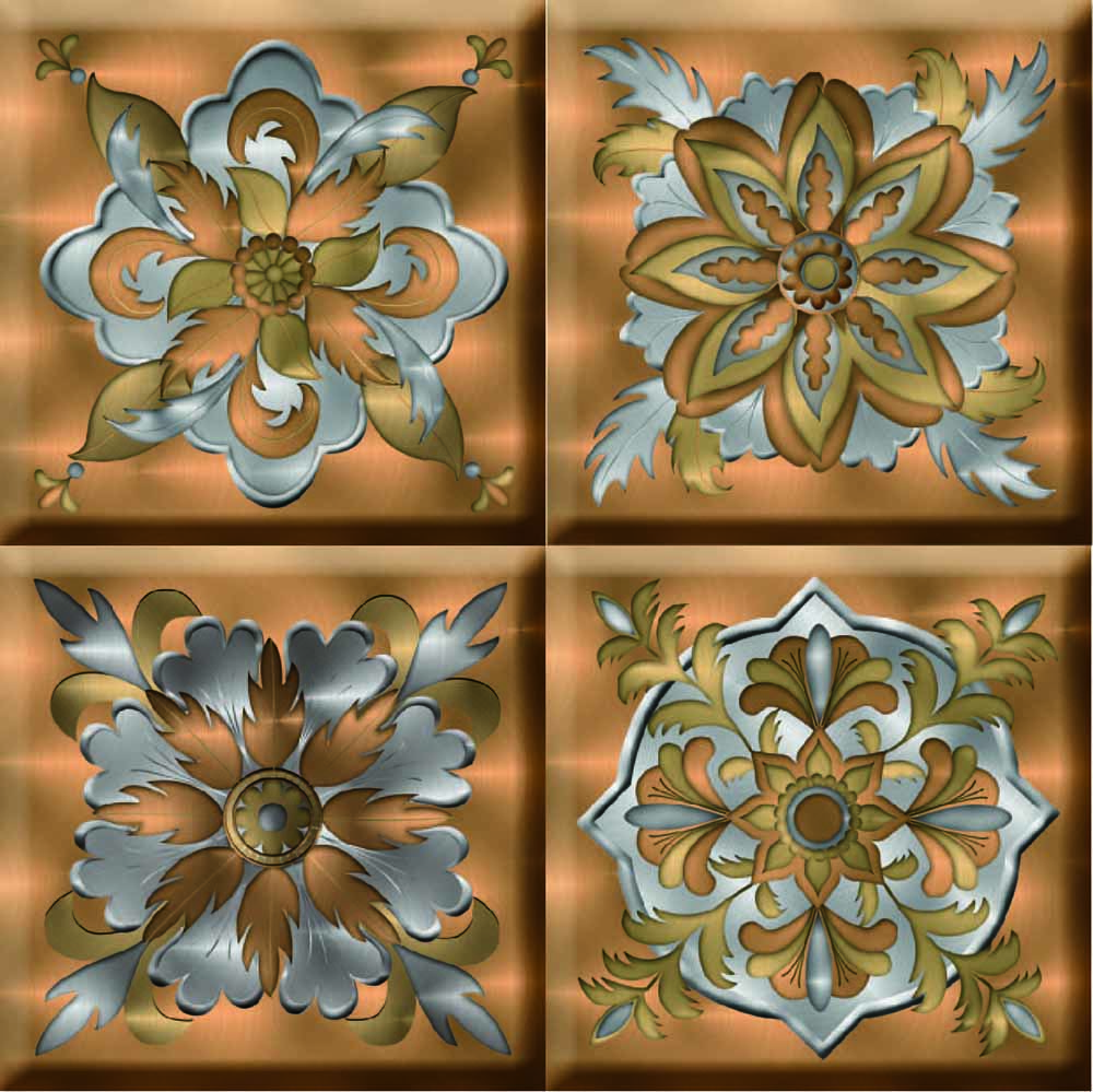 IdeaStix Corinthian TileStix - Original Premium 4-Piece Peel and Stick Tile Decor