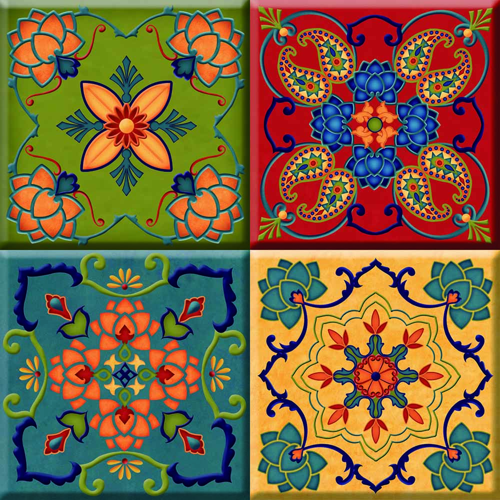 IdeaStix Moroccan TileStix - Original Premium 4-Piece Peel and Stick Tile Décor